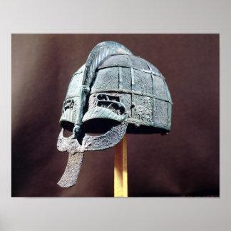 Helmet, from the Vendel Treasure Poster