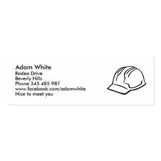 Helmet Hard hat Double-Sided Mini Business Cards (Pack Of 20)