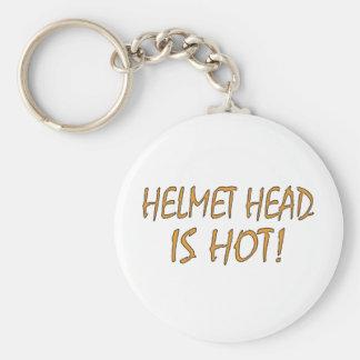 Helmet Head Is Hot Keychain