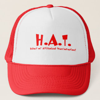 Helmet of Attitudinal Transformation Trucker Hat