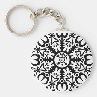 Helmet of awe - Aegishjalmur No 1 black Keychain