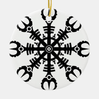 Helmet of awe - Aegishjalmur No.2 (black) Christmas Ornament