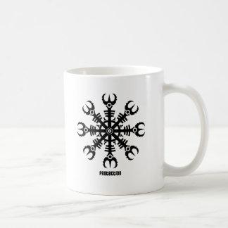 Helmet of awe - Aegishjalmur No.2 (black) Coffee Mug