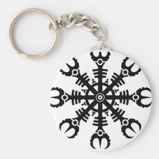 Helmet of awe - Aegishjalmur No.2 (black) Key Ring