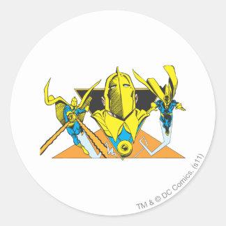 Helmet of Fate Round Sticker