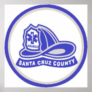 Helmet Santa Cruz County Paramedic Print