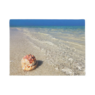 Helmet Shell In Tropical Lagoon| Cassis Rufa Doormat