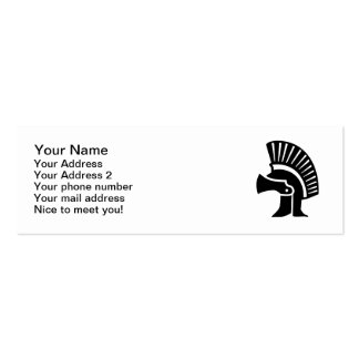 Helmet Sparta Double-Sided Mini Business Cards (Pack Of 20)