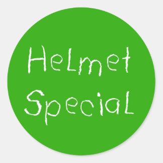 Helmet Special Round Sticker