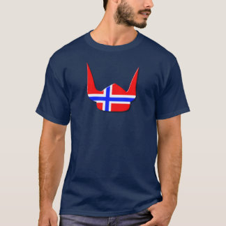 Helmet Viking Flag Norway Design T-Shirt