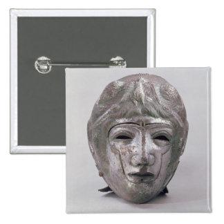 Helmet with Eagle Decoration, Roman (silver) 15 Cm Square Badge