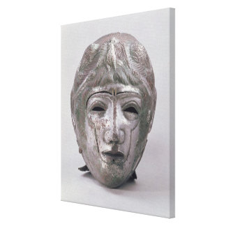 Helmet with Eagle Decoration, Roman (silver) Gallery Wrapped Canvas