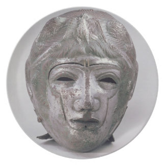 Helmet with Eagle Decoration, Roman (silver) Plate