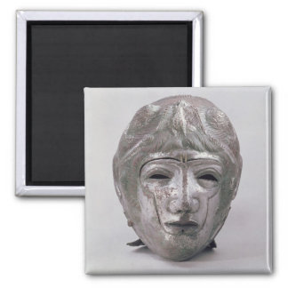 Helmet with Eagle Decoration, Roman (silver) Square Magnet