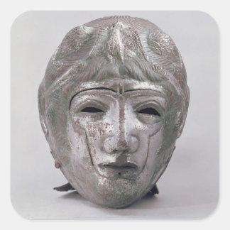 Helmet with Eagle Decoration, Roman (silver) Square Sticker