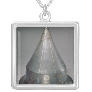 Helmet with the Deesis Silver Plated Necklace