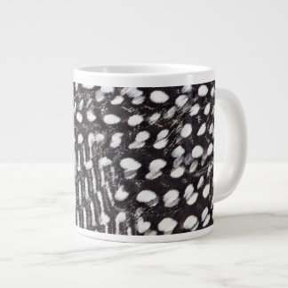 Helmeted Guinea fowl feather Large Coffee Mug