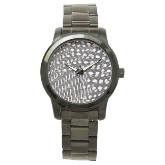 Helmeted Guinea fowl feather Watch