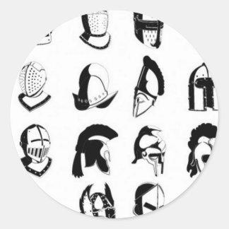Helmets design round sticker