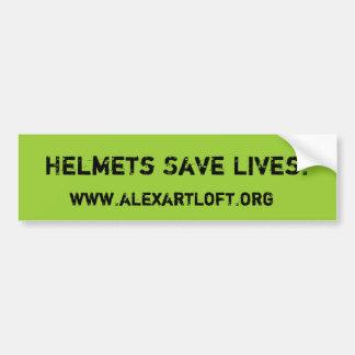 Helmets Save Lives Bumper Sticker
