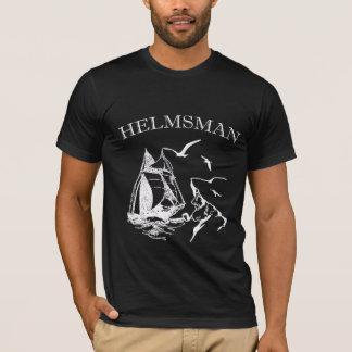 Helmsman Sailboat Sailor Mens Black T-shirt