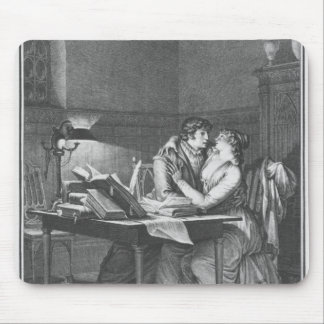 Heloise and Abelard in their study Mouse Pad