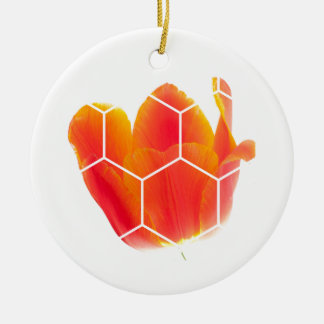 Help Bees... Plant Flowers. Christmas Ornament