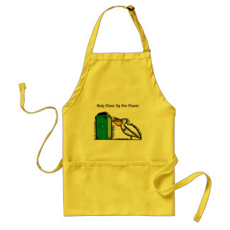 """""""Help Clean Up Our Planet"""" Standard Apron"""