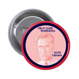 Help Cure Romnesia, Vote Obama 6 Cm Round Badge