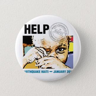 Help Donation Haiti 6 Cm Round Badge