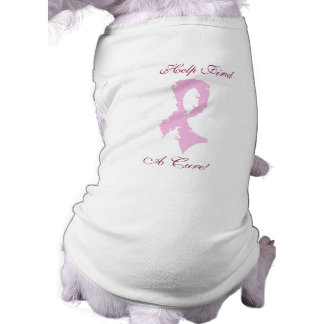 Help Find A Cure for Breast Cancer Sleeveless Dog Shirt