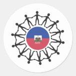Help Haiti Round Sticker