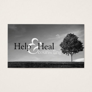 Help Heal Counseling Life Coach Therapy Therapist Business Card
