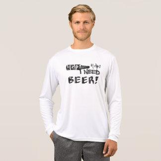 Help I Need Beer! Funny Tshirt- Black T-Shirt