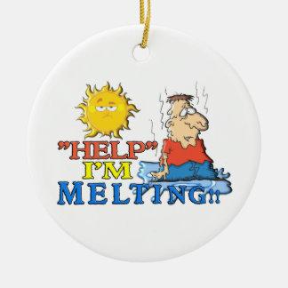 """HELP"" I'm Melting Christmas Ornament"