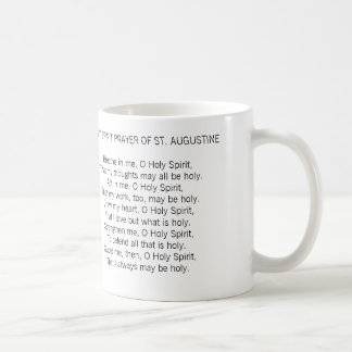 HELP ME BE HOLY PRAYER OF ST. AUGUSTINE MUG
