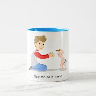Help me do it alone Two-Tone coffee mug