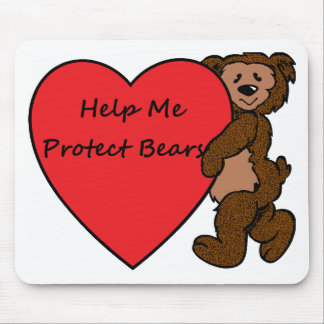 HELP ME SAVE BEARS MOUSE PAD
