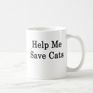 Help Me Save Cats Coffee Mugs