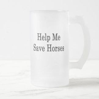 Help Me Save Horses Mugs