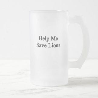 Help Me Save Lions Mug