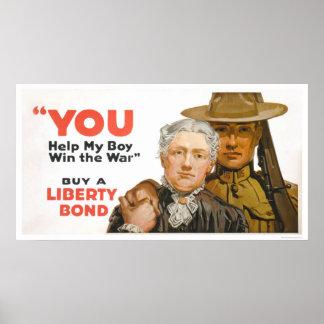 Help my Boy Win the War - Buy a Liberty Bond Poster