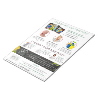 Help Others Live ToxicFree® Flyer - 40 pages Notepad