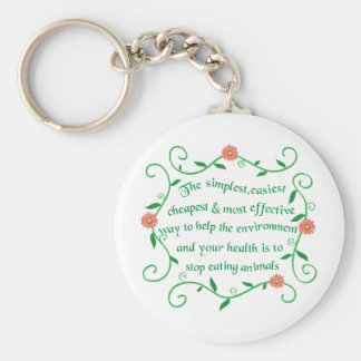 Help our health and environment keychains