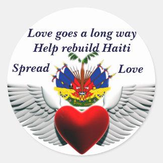 Help rebuild Haiti_ Sticker Round Sticker