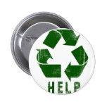 Help Recycle (Green) Pinback Buttons