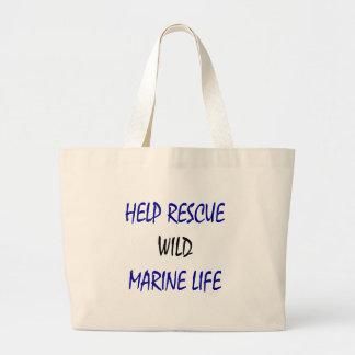 Help Rescue Wild Marine Life Tote Bags