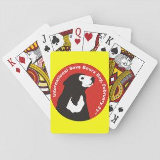 help save sun bears playing cards