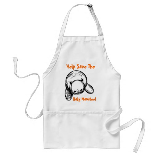Help Save The Baby Manatee! Apron