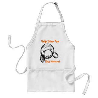 Help Save The Baby Manatee! Standard Apron